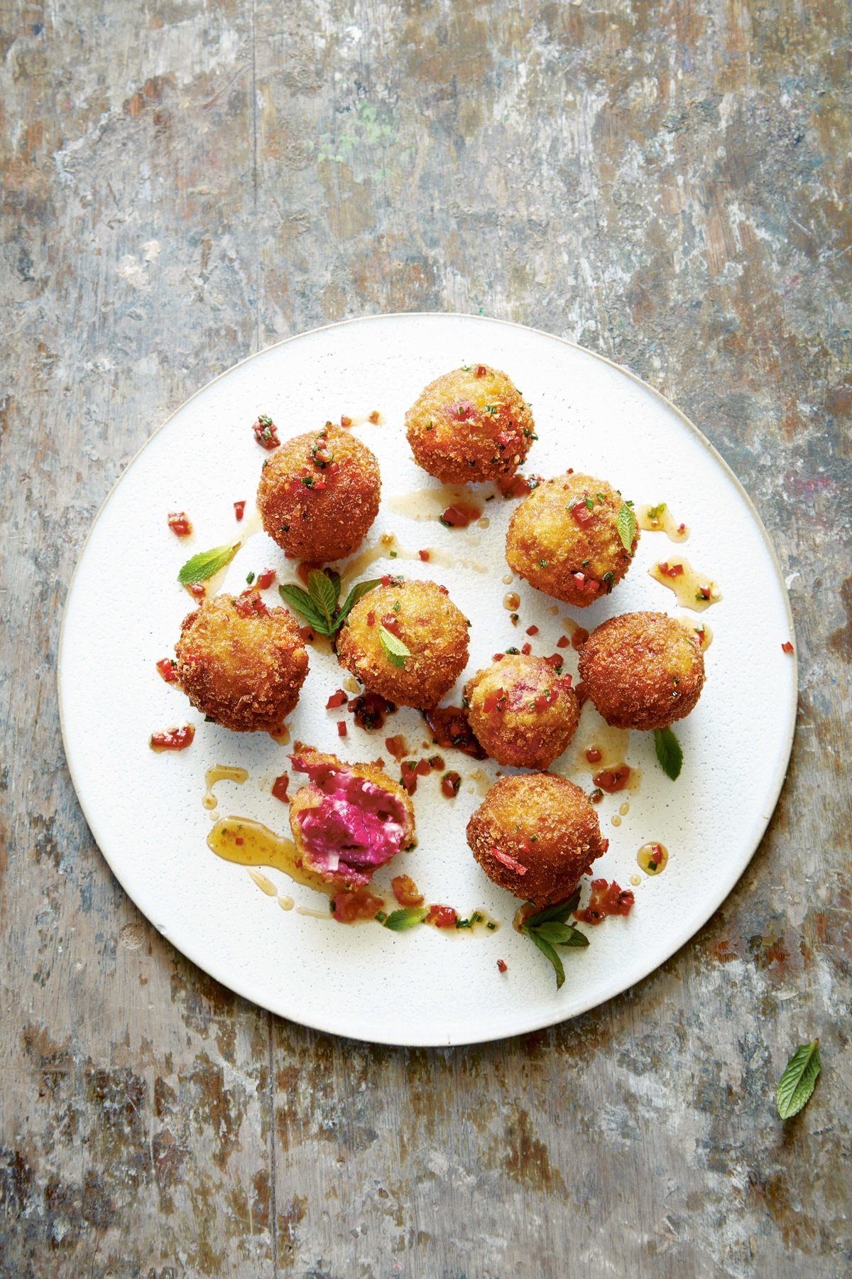 Image of Ryan Riley's Goat's Cheese and Beetroot Croquettes