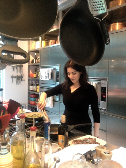 Nigella Frying Lamb Chop