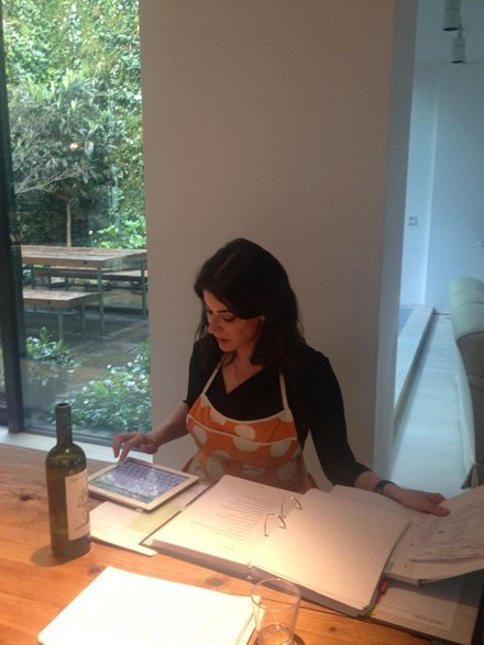 Nigella Planning After Shoot
