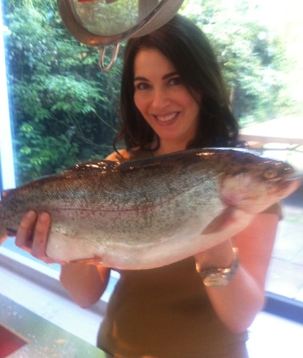 Nigella with trout