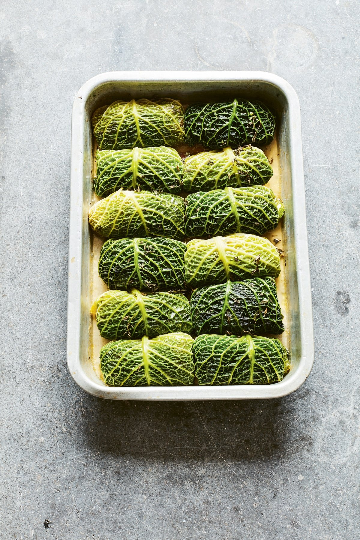 Image of Catherine Phipps' Stuffed Savoy Cabbage Leaves