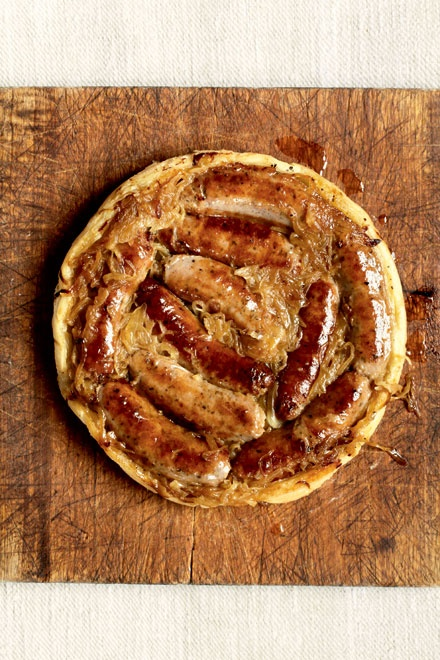 Upside Down Sausage and Onion Pie