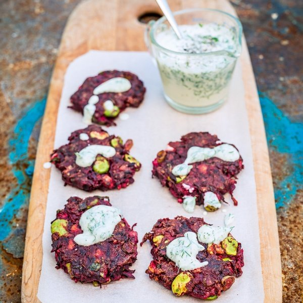 Photo of Lee Watson's Beetroot and Cumin Fritters