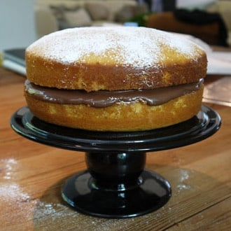Kyra's hot milk sponge cake