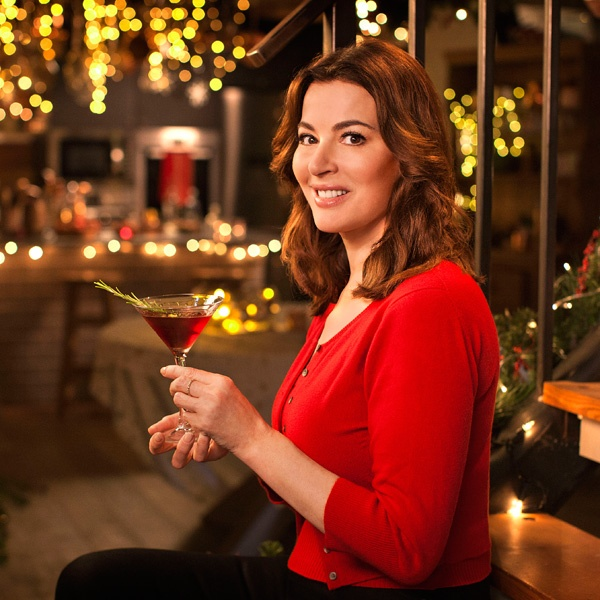 Portrait of Nigella with Christmas Martini