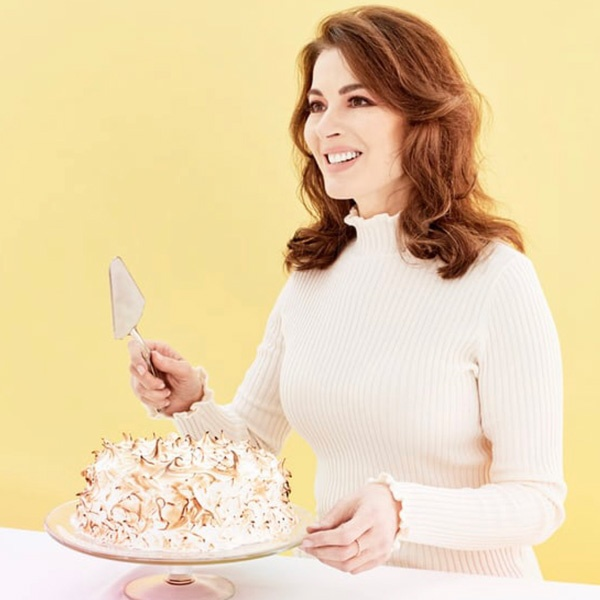 Nigella with Toasted Marshmallow and Rhubarb Cake