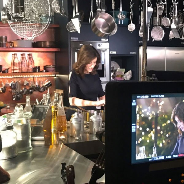 Image of Nigella on At My Table film set