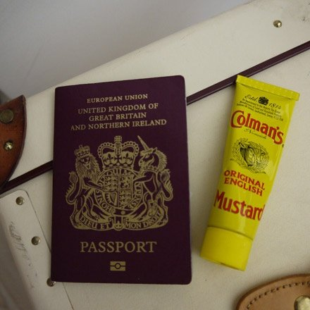 Passport and Mustard