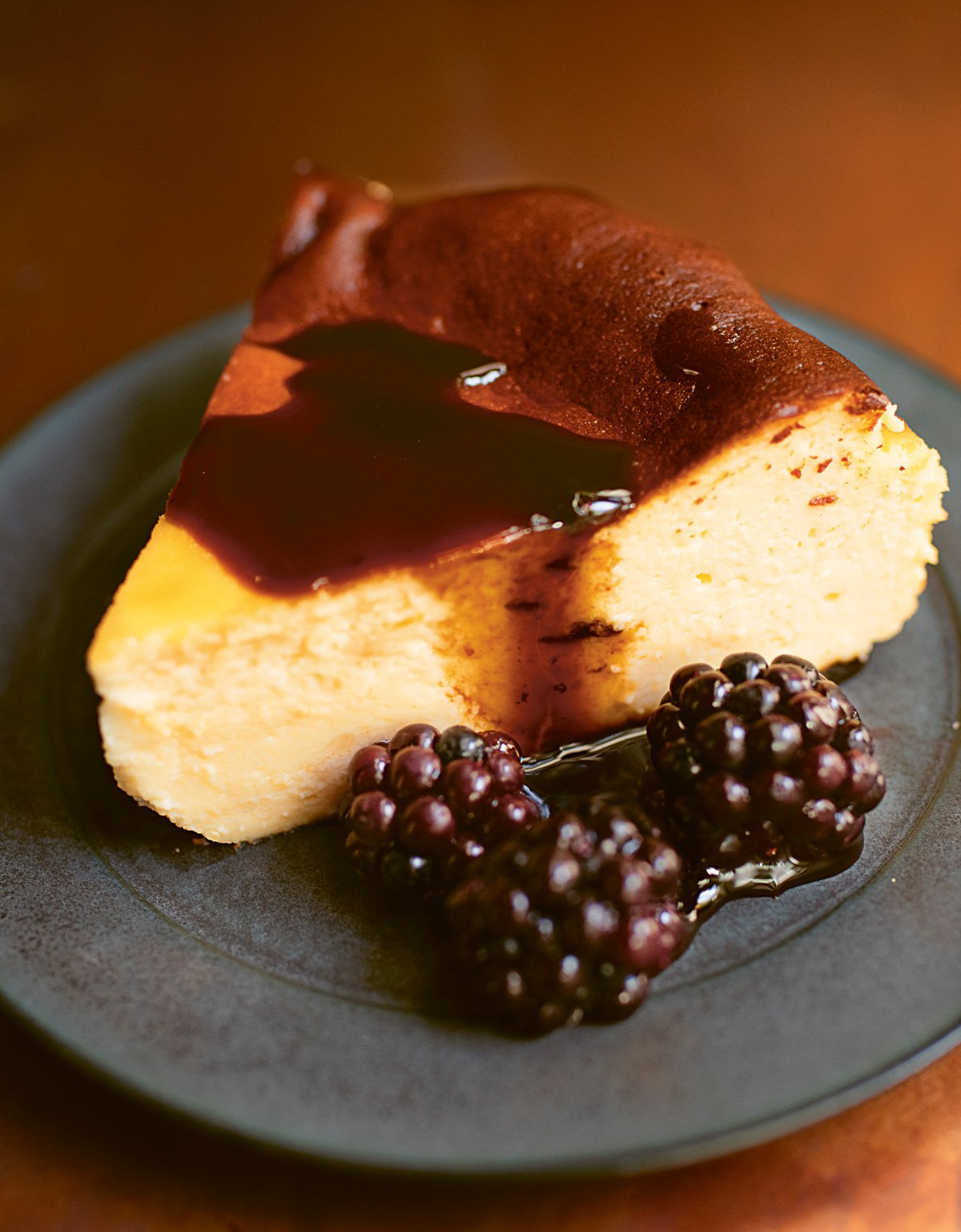 Basque Burnt Cheesecake With Liquorice Sauce Nigella S Recipes Nigella Lawson