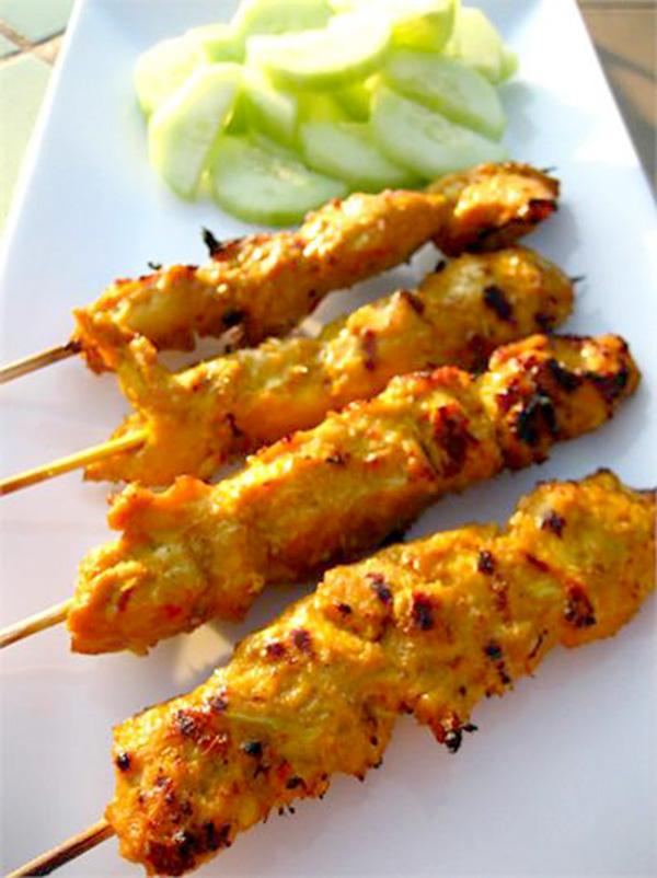 Moo Satay (Pork Satay) With Peanut Sauce Recipe — Dishmaps