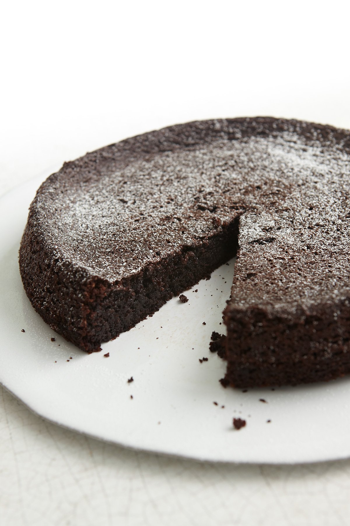 Coconut Oil Flourless Chocolate Cake