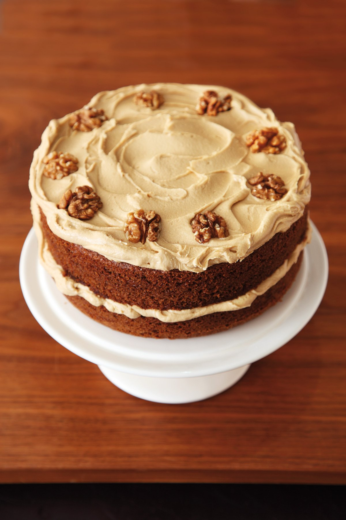 Coffee And Walnut Layer Cake Nigella S Recipes Nigella