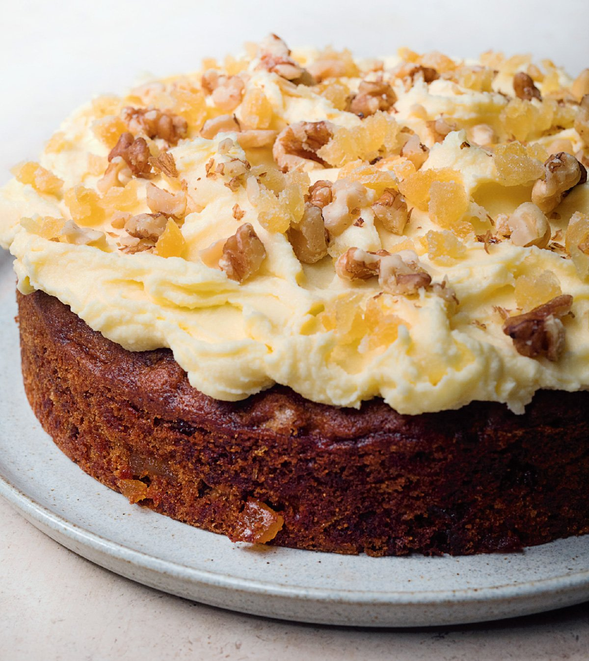Ginger and Walnut Carrot Cake