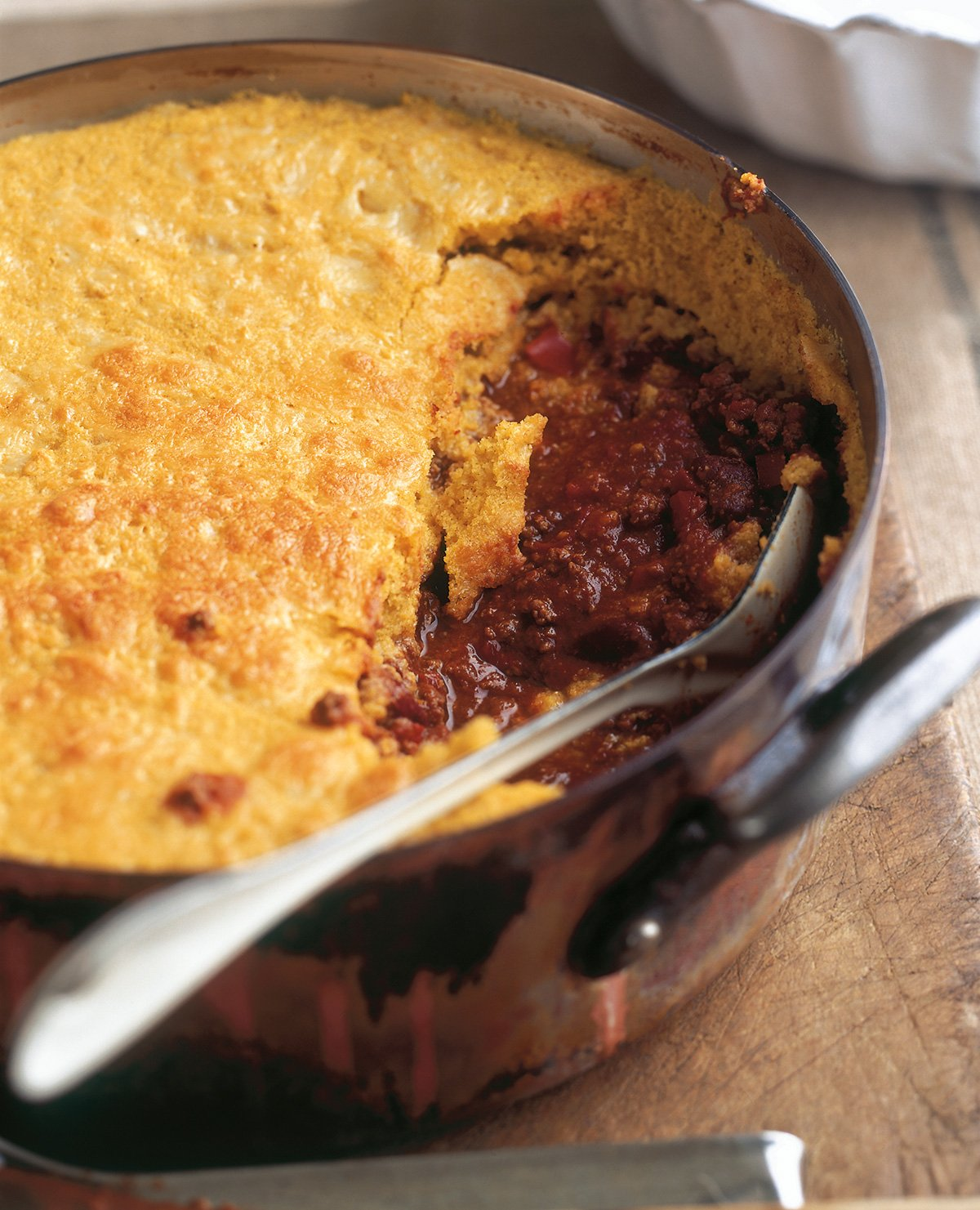 cornbread topped chilli con carne nigella 39 s recipes. Black Bedroom Furniture Sets. Home Design Ideas