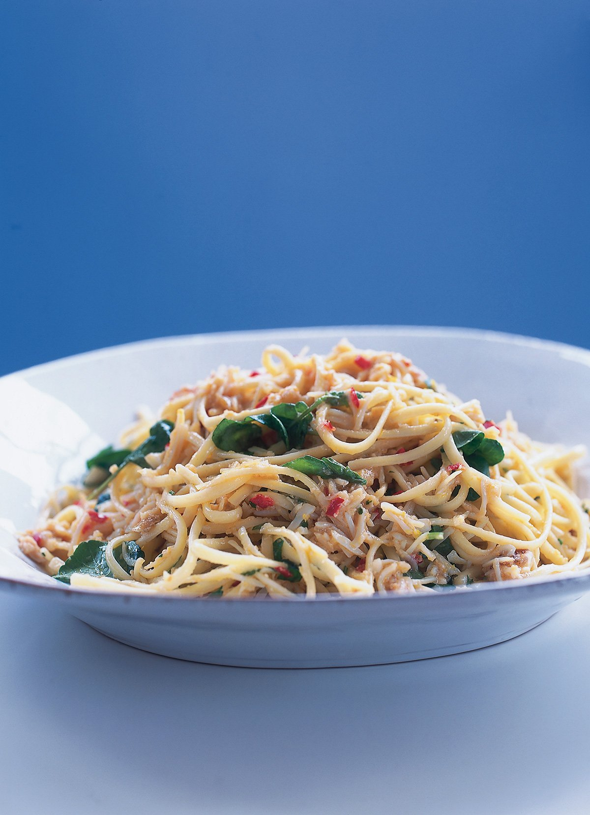 Linguine With Chilli Crab And Watercress Nigella S Recipes Nigella Lawson