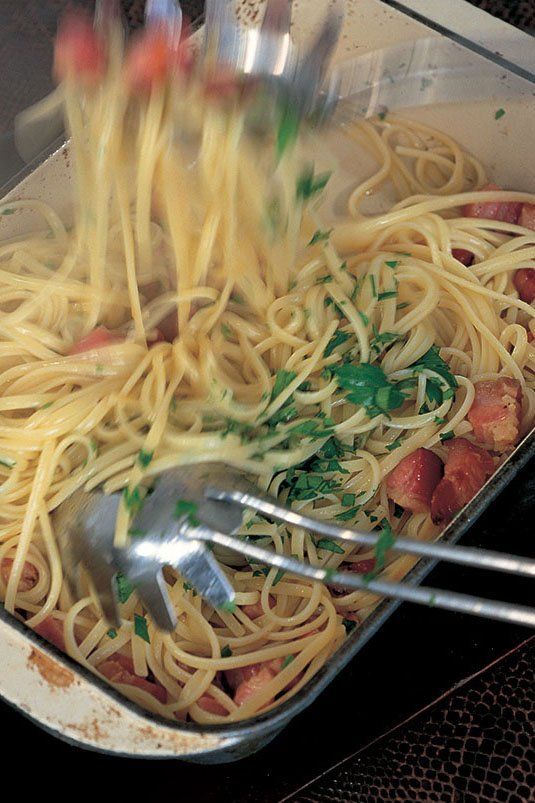 Linguine With Garlic Oil and Pancetta | Nigella's Recipes ...