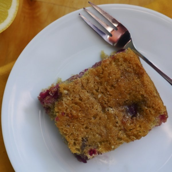 Raspberry & Lemon Cake (Vegan version)