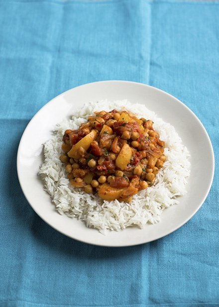 Image of Jack Monroe's Peach and Chickpea Curry