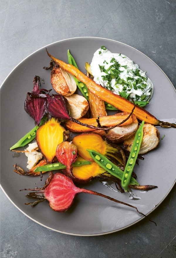Image of Nigel Slater's Beetroot, Carrot, Sugar Snaps