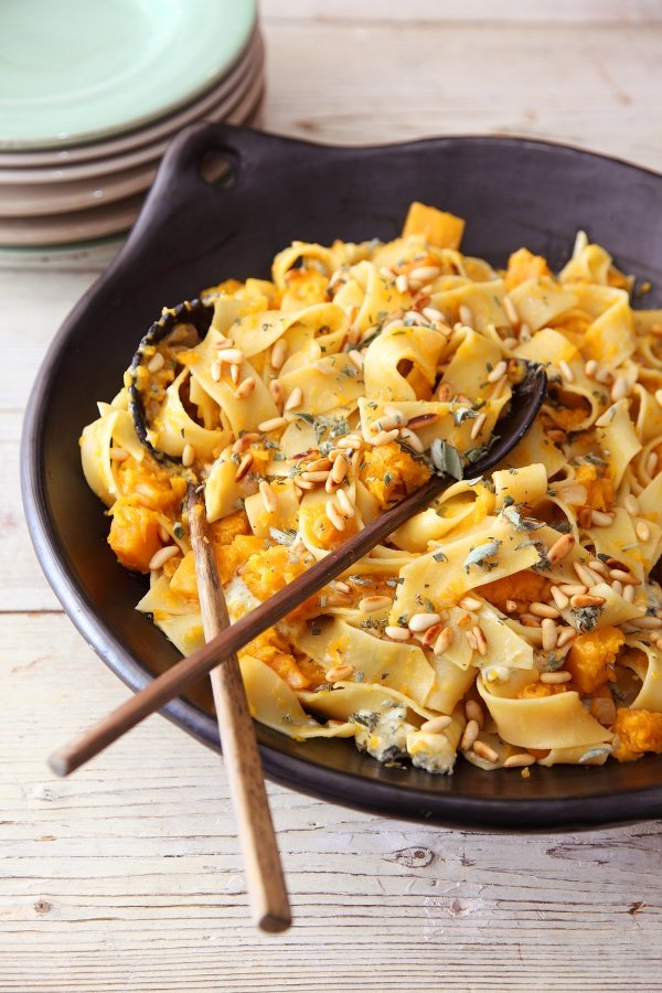 The home of nigella online nigella lawson image of nigellas pappardelle with butternut and blue cheese forumfinder Choice Image