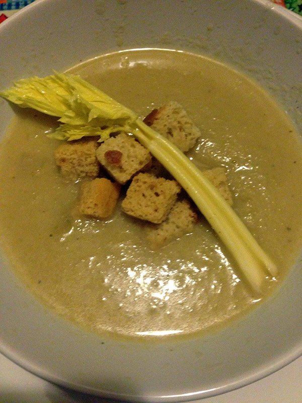 Celery and Gorgonzola Soup