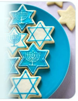 Chanukah Shaped Cookies