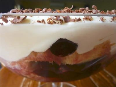 Cherry and Marsala Trifle