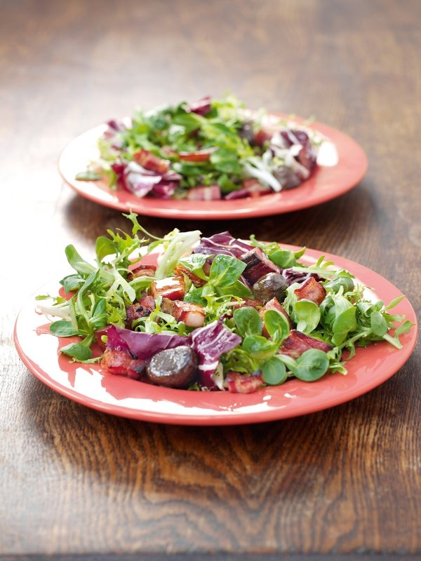 Chestnut and Pancetta Salad