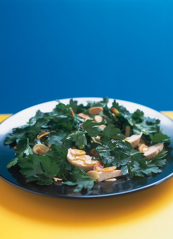 Chicken, Almond and Parsley Salad