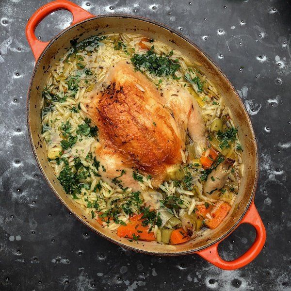Image of Nigella's Chicken In A Pot With Lemon And Orzo
