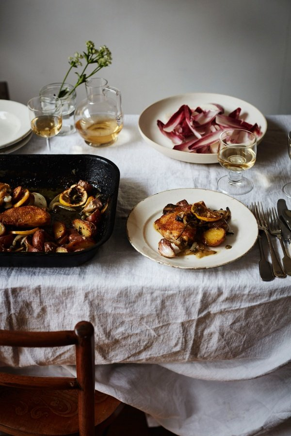 Image of Diana Henry's Chicken with Lemon, Capers and Thyme