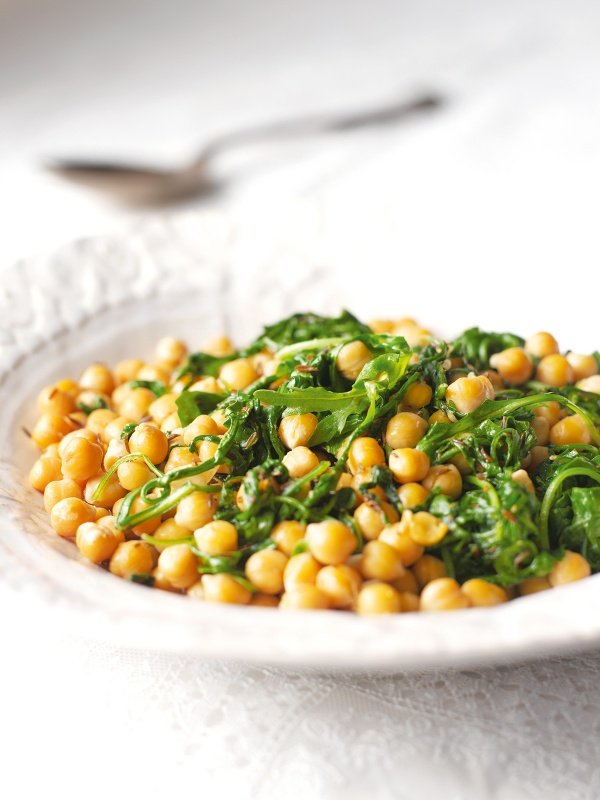 Chickpeas With Rocket and Sherry