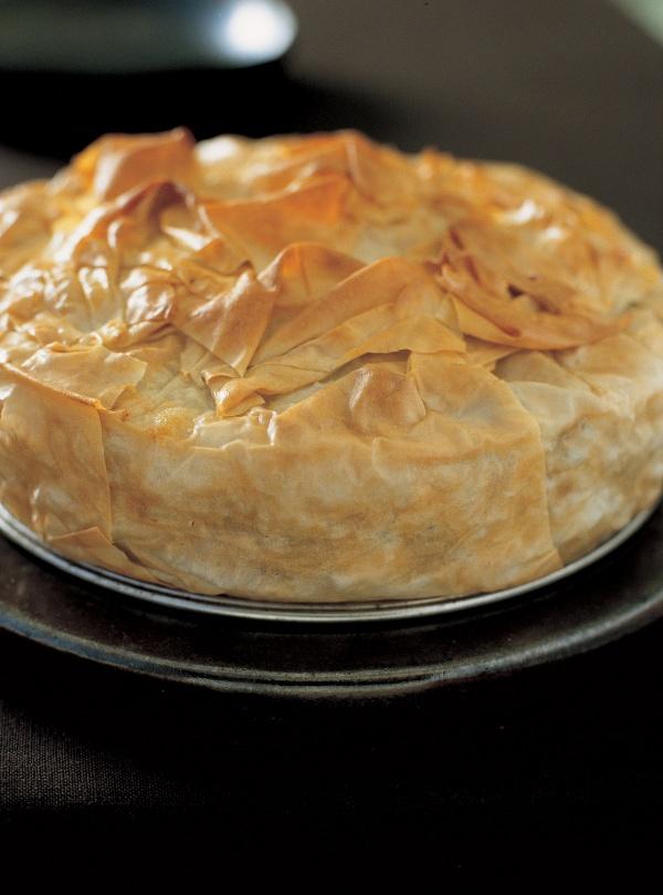 Courgette and Chick Pea Filo Pie