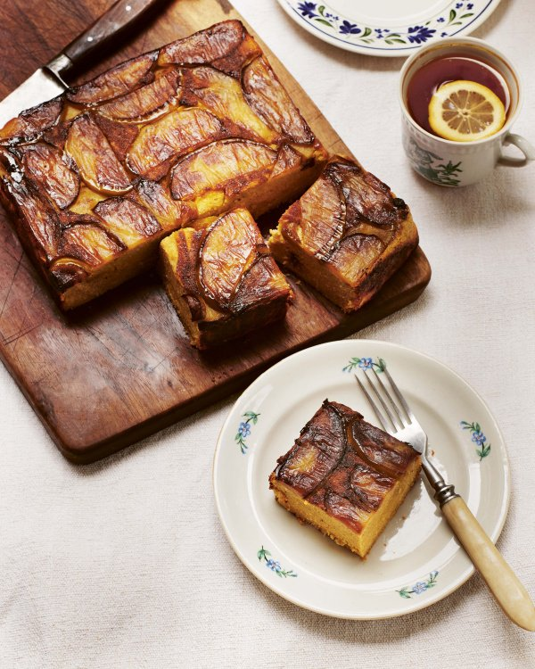 Image of Olia Hercules' Curd Cake with Caramelised Apples