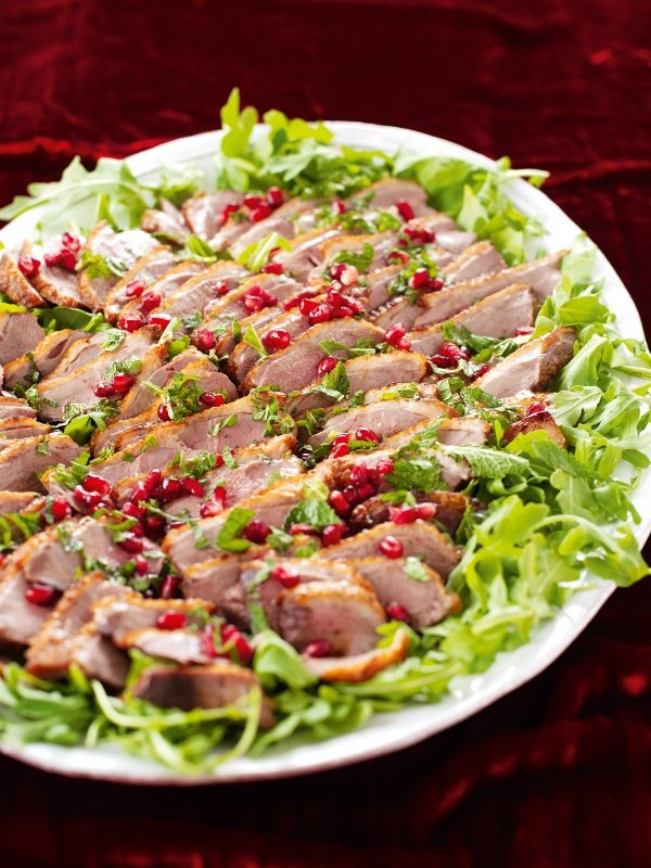 Duck Breasts With Pomegranate and Mint