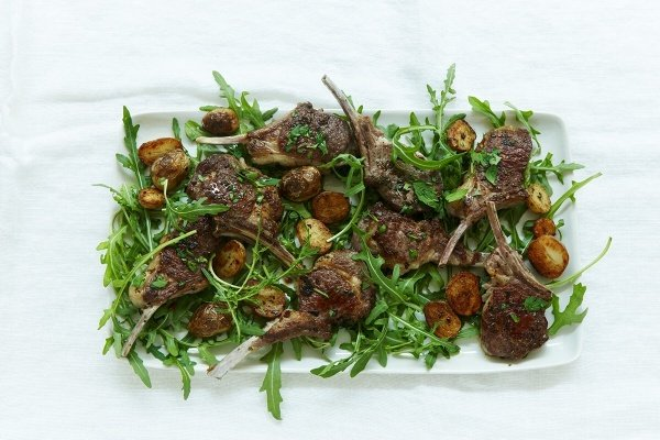 Image of Nigella's Lamb Cutlets with Mint, Chilli and Golden Potatoes