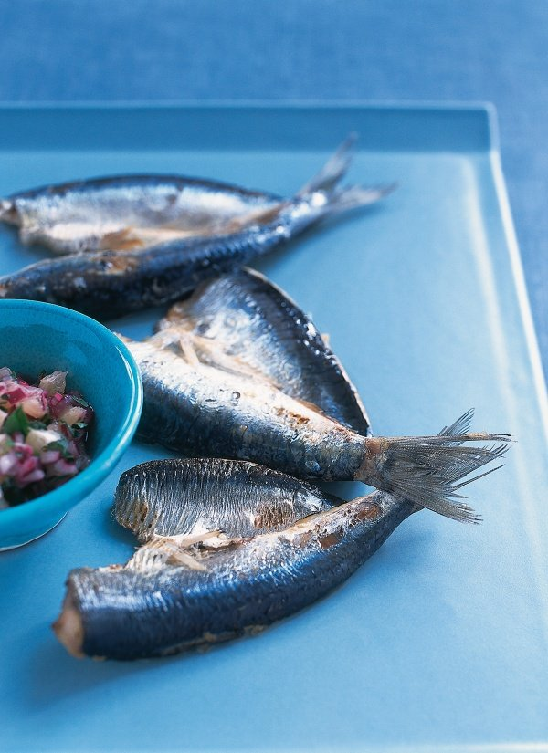 Grilled Sardines With Lemon Salsa