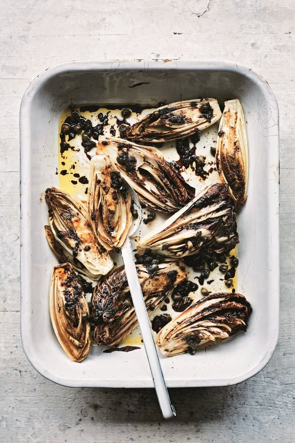 Image of Anna del Conte's Grilled Radicchio and Chicory