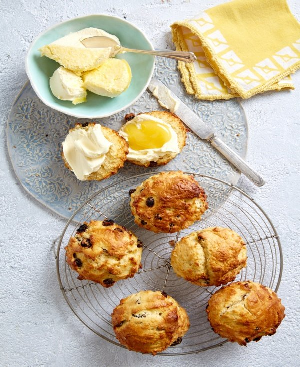 Light-as-air South African Raisin and Lemon Scones