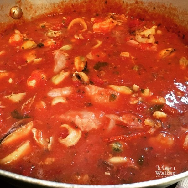 Image of Walter Biscardi's Mom's Christmas Eve Seafood Sauce