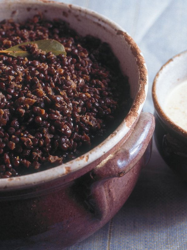 Lentils Braised in Red Wine