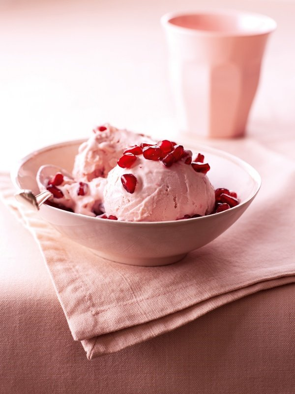 No-Churn Pomegranate Ice Cream