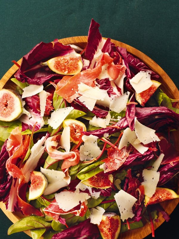 Red-Leaf, Fig and Serrano Ham Salad