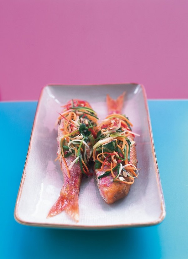 Red Mullet With Sweet and Sour Shredded Salad