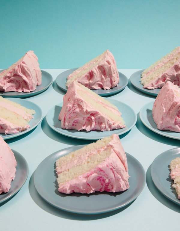Image of Jessie Sheehan's Silver Cake with Pink Frosting