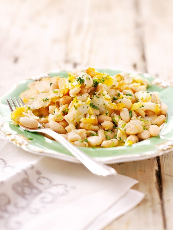Smoked Cod and Cannellini Beans