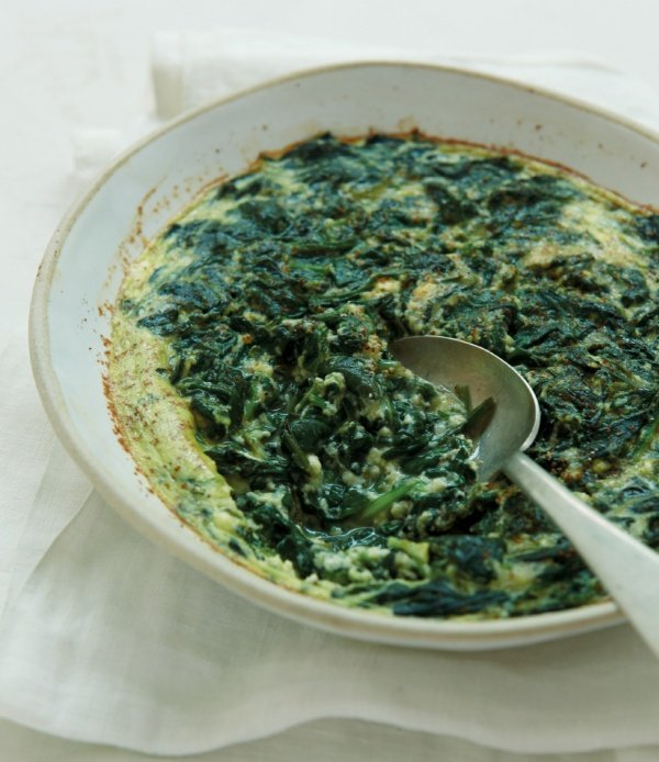Image of Nigella's Spinach Baked with Ricotta