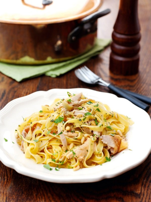 Image of Nigella's Tagliatelle with Chicken from the Venetian Ghetto