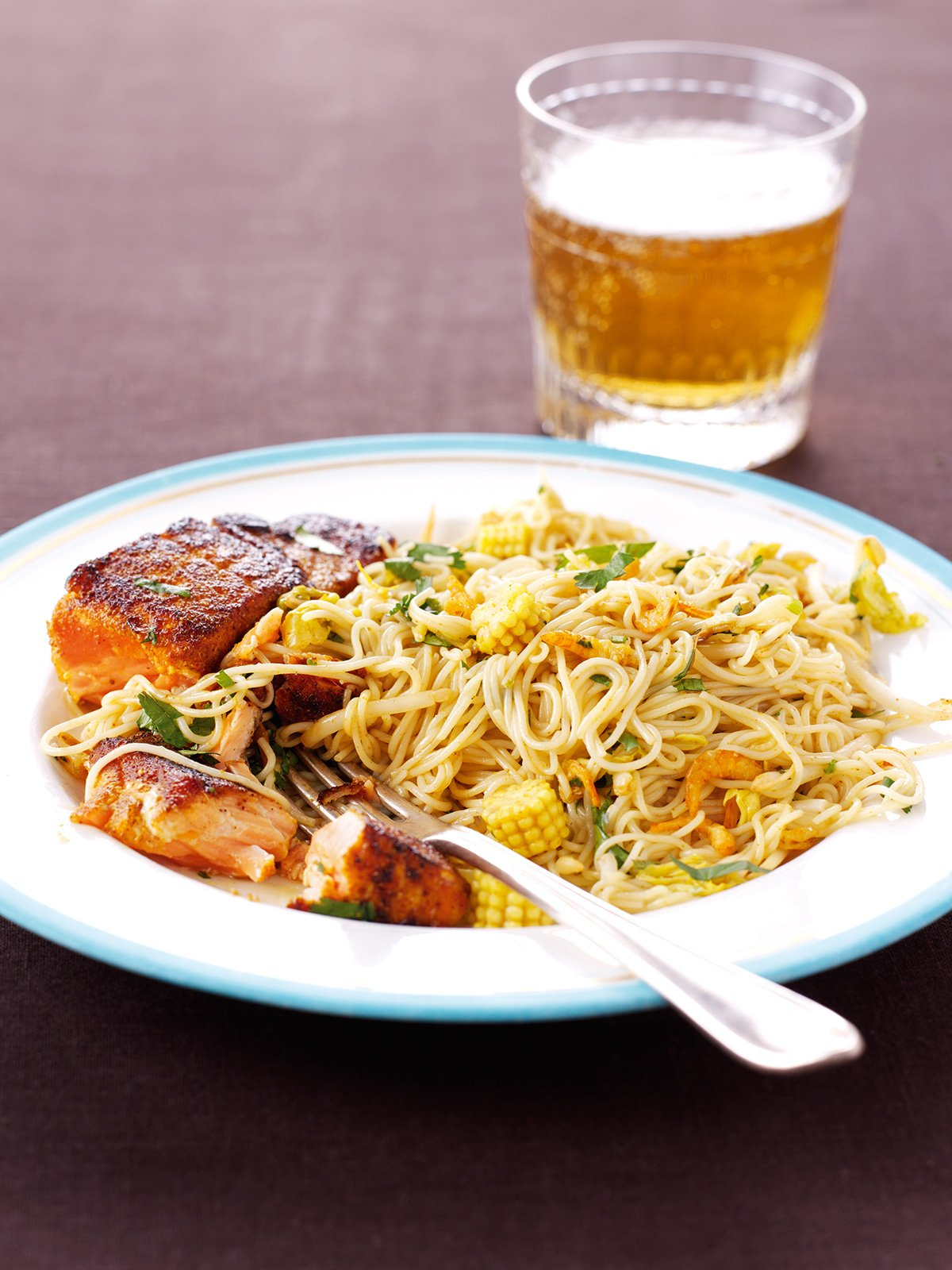 Seared Salmon With Singapore Noodles | Nigella's Recipes ...