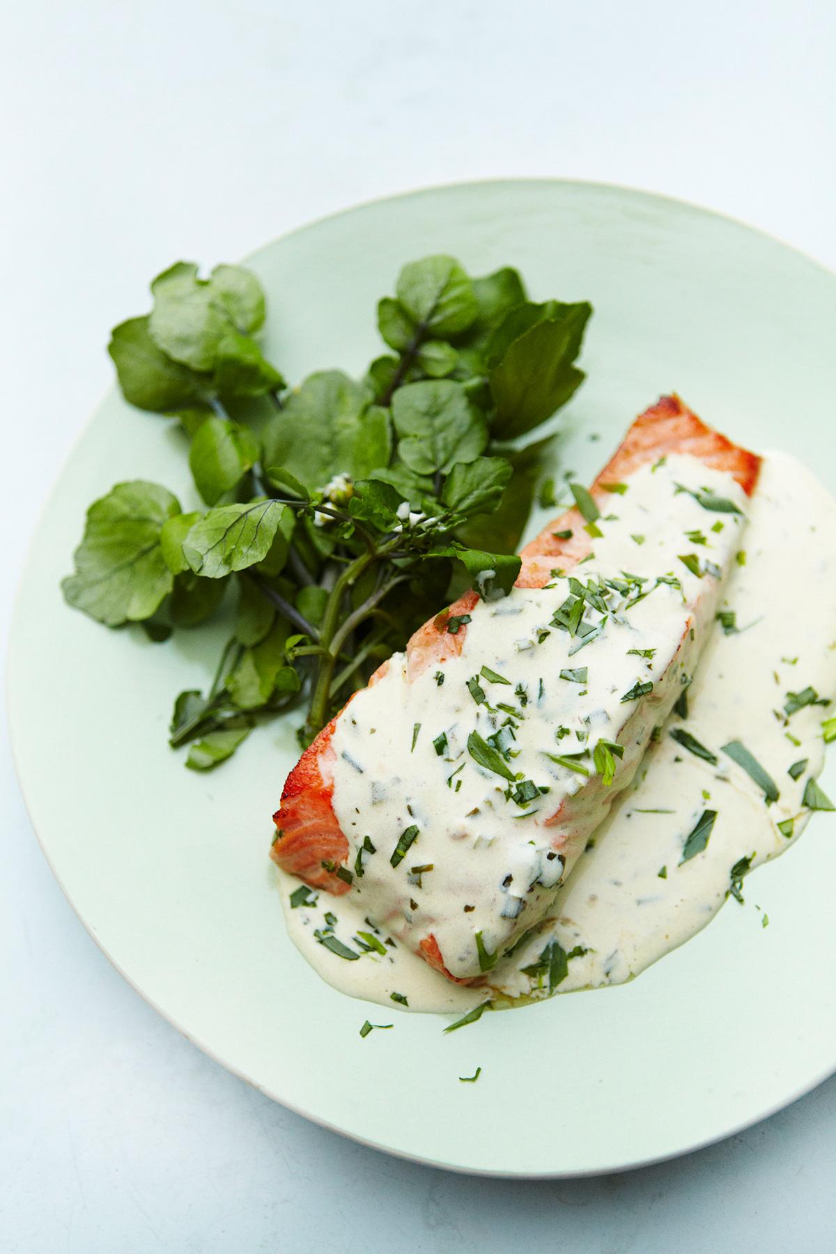 Tarragon Salmon   Nigella's Recipes   Nigella Lawson